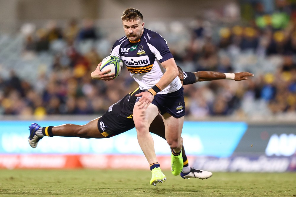 Mack Hansen in action for the Brumbies. Photo: Getty Images