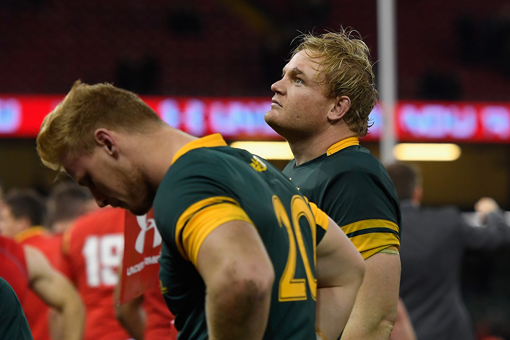 Springboks skipper Adriaan Strauss was on the wrong end against Wales. Photo: Getty Images