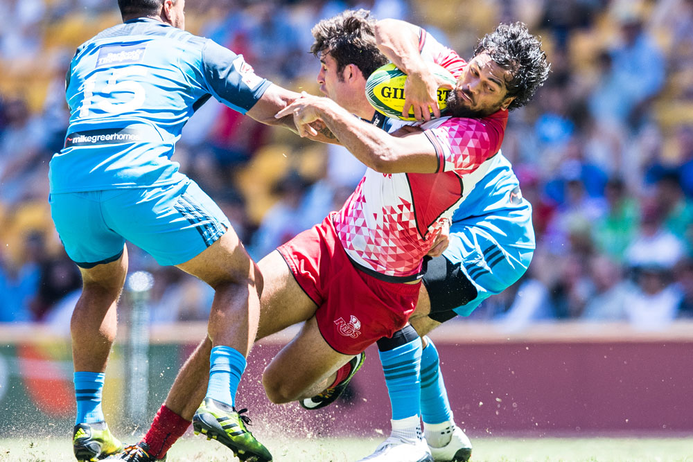 Karmichael Hunt was a standout in the Reds' first game. Photo: RUGBY.com.au/Stuart Walmsley