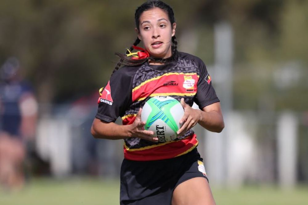 National Indigenous Women's Sevens in action on Day Two, Field Two. Photo: ARU Media.