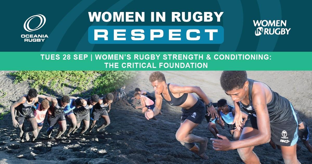 Women in Rugby: Webinar - S&C - ad