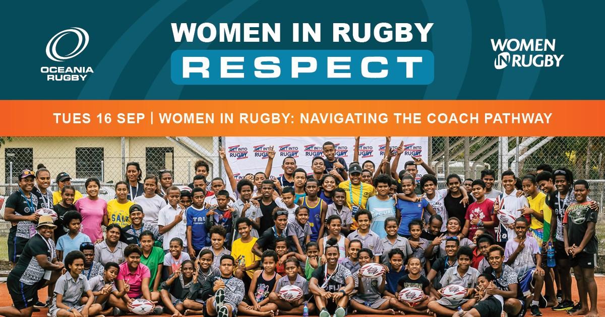 Women in Rugby: Webinar - Coach Pathway ad