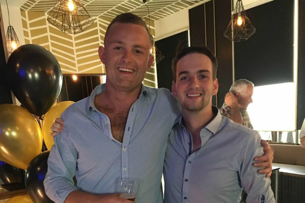 Lachlan Ward (left) tragically died while playing Fifth Grade for Warringah on Saturday. Photo: Facebook