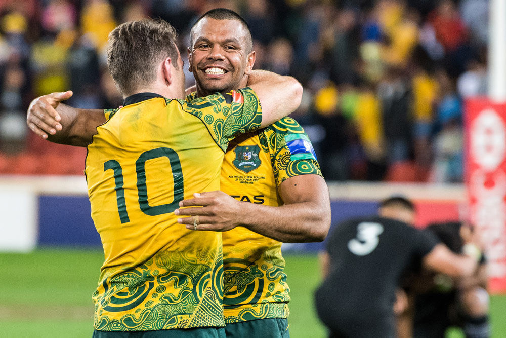 The Wallabies Indigenous jersey is a hit. Photo: RUGBY.com.au/Stuart Walmsley