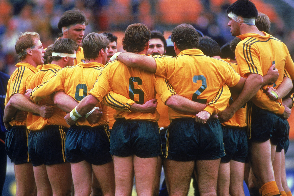 The 1987 Rugby World Cup team. Photo: Getty Images
