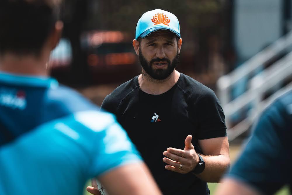 France star Frederic Michalak was a guest coach at the Waratahs. Photo: Julius Dimitaga/Waratahs media