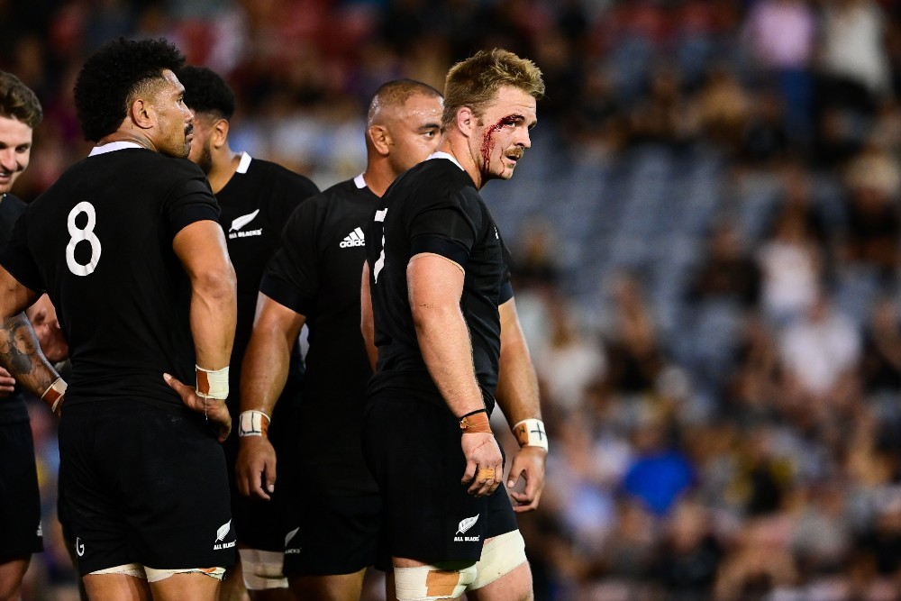 Ian Foster has praised Sam Cane after the All Blacks captain led his side to a crushing victory over the Pumas. Photo: Stu Walmsley/Rugby Australia