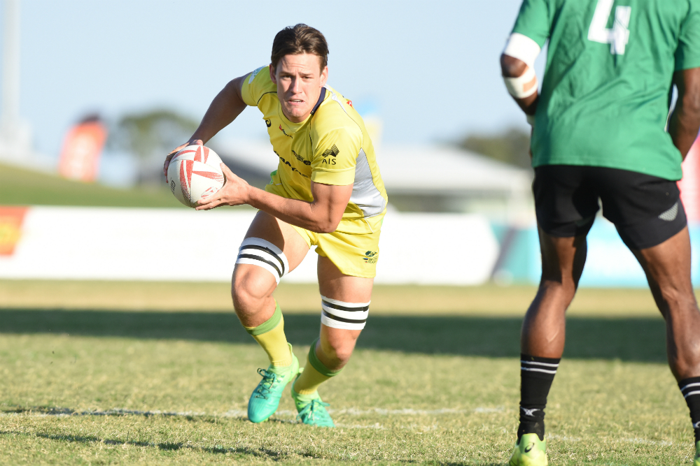 Lachie Anderson and the Aussie Sevens completed a clean sweep in Mackay. Photo: Ben Dolphin