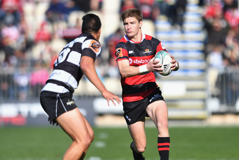 The younger Barrett in action in the Mitre 10 Cup. Photo: Getty Images