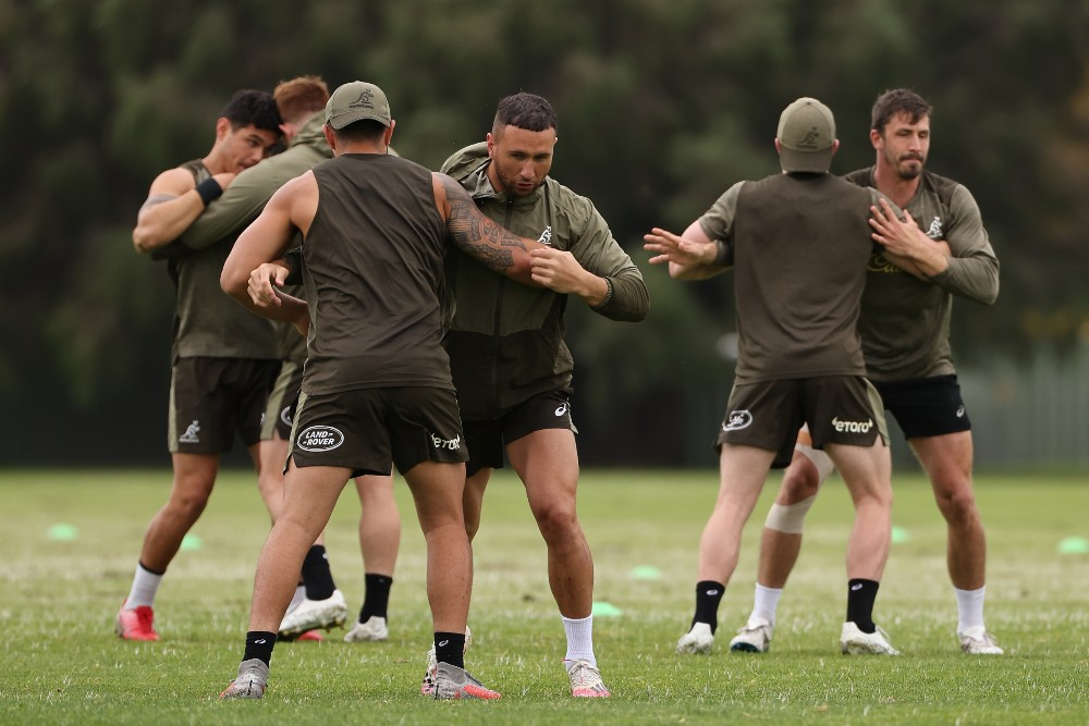 World Rugby chiefs have issued new contact training guidance aimed at reducing injury risks following a global study on almost 600 players. Photo: Getty Images