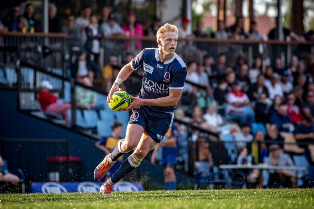 Carter Gordon takes the ball up for Queensland Country