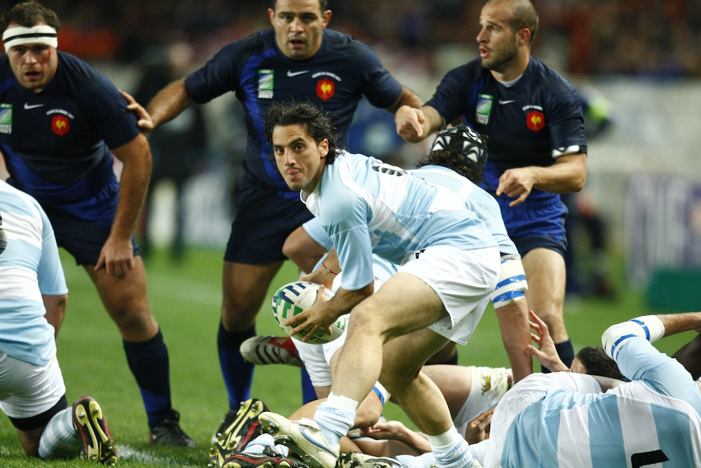 Pichot in his final match for the Los Pumas at the Rugby World Cup in 2007. Photo: Getty Images