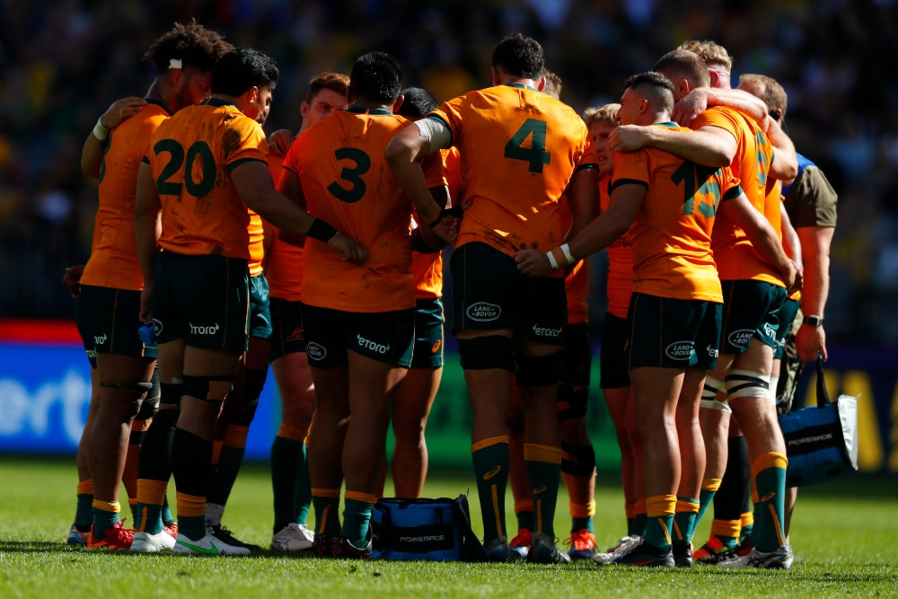 The growth of artificial surfaces has led to a change in regulations allowing male rugby union players to wear tights or leggings. Photo: Getty Images