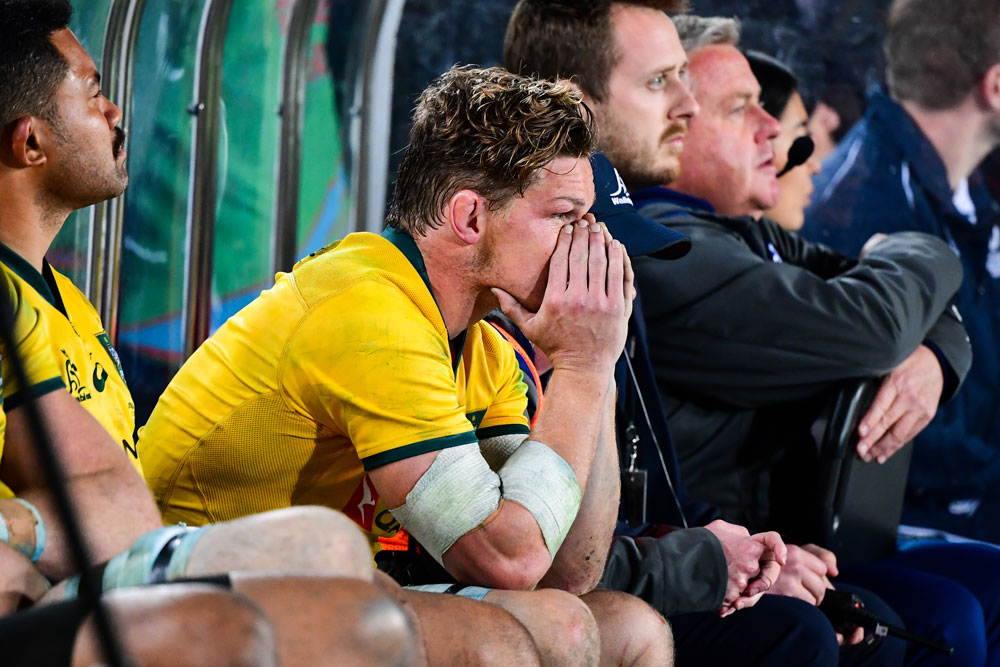 Michael Hooper had a tough night at the office. Photo: RUGBY.com.au/Stuart Walmsley