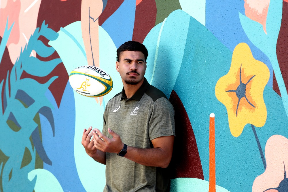 Trevor Hosea poses during Wallabies camp | Getty Images