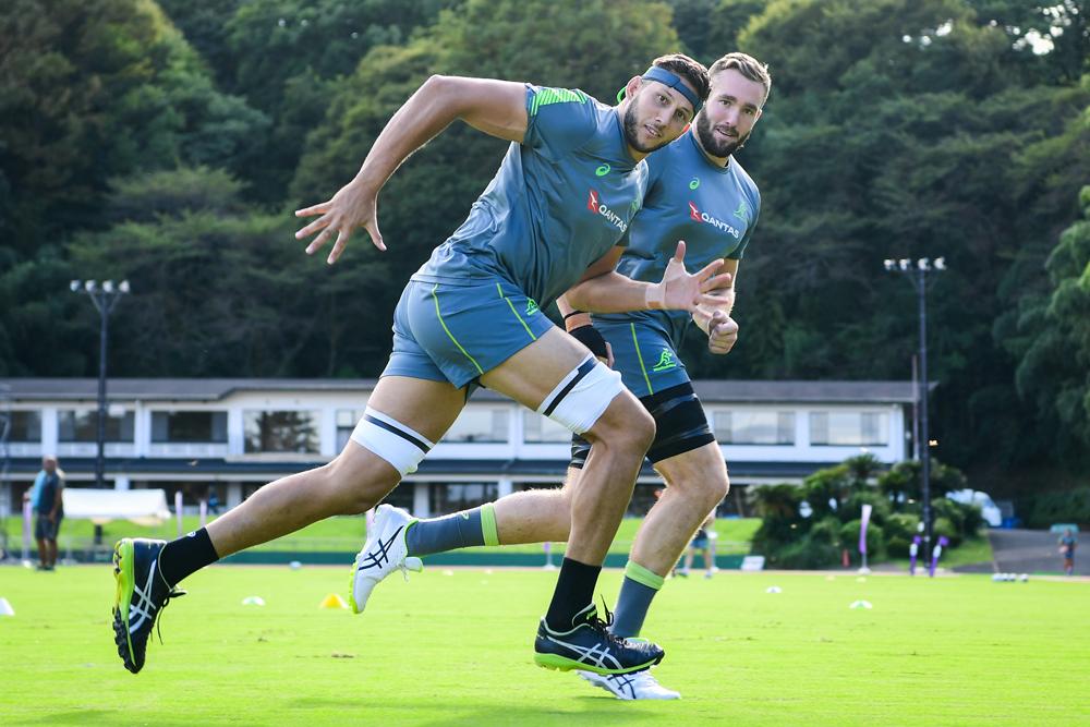 Adam Coleman training in Odawara ahead of the Rugby World Cup. Photo: RUGBY.com.au/Stuart Walmsley