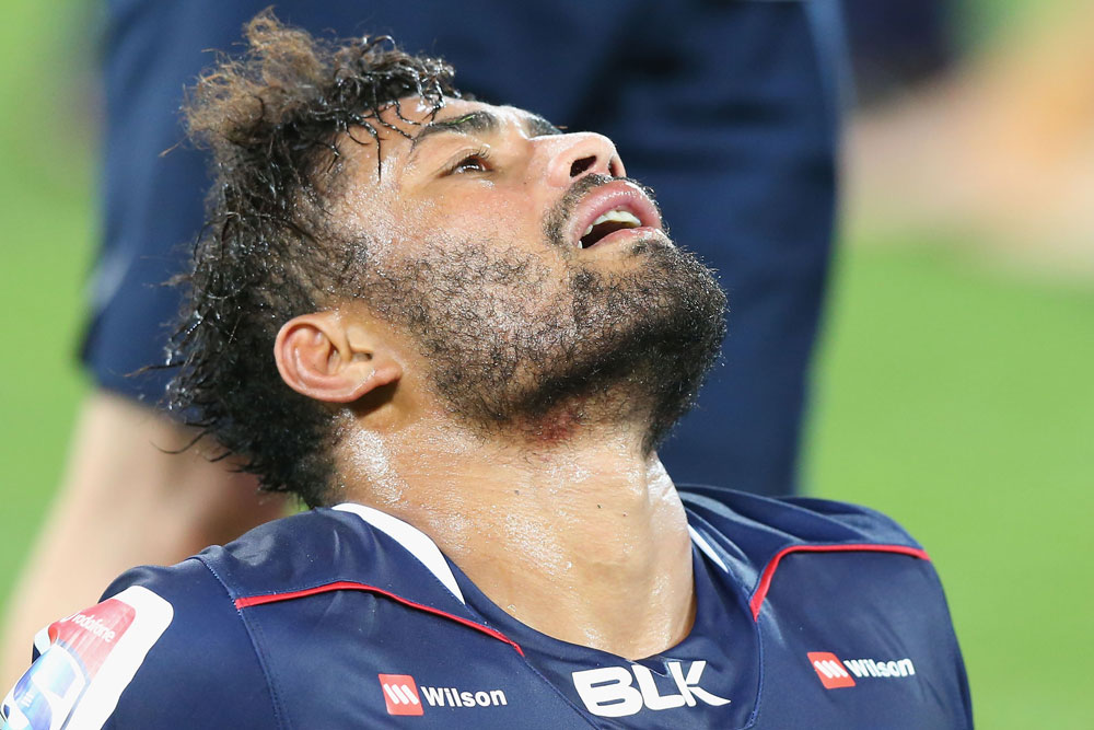 Amanaki Mafi was exhausted after the 32-25 loss. Photo: Getty Images