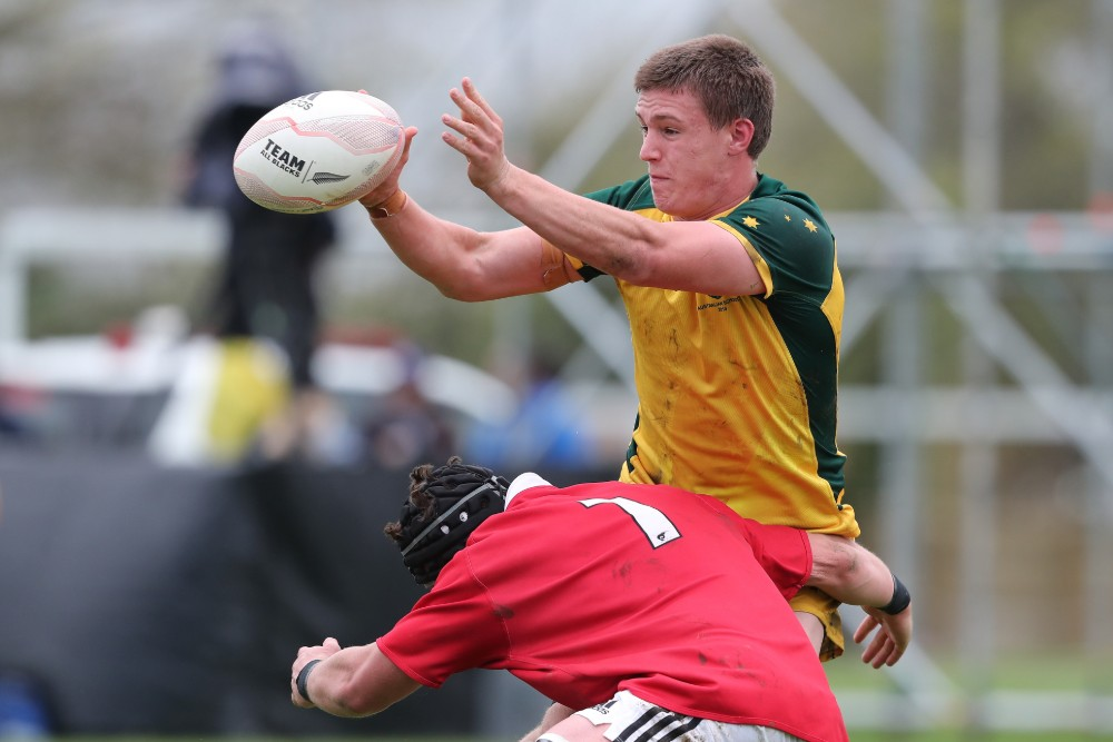 Kalani Thomas in action against the New Zealand Schools Barbarians. Photo: Getty Images