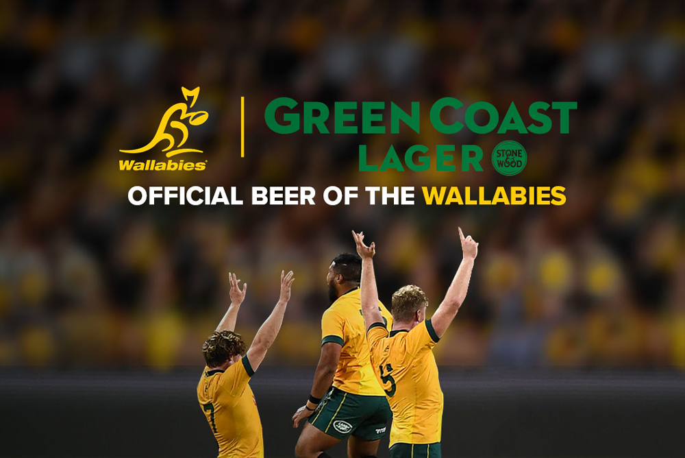 Stone and Wood's Green Coast Lager is the Official Beer of the Wallabies.