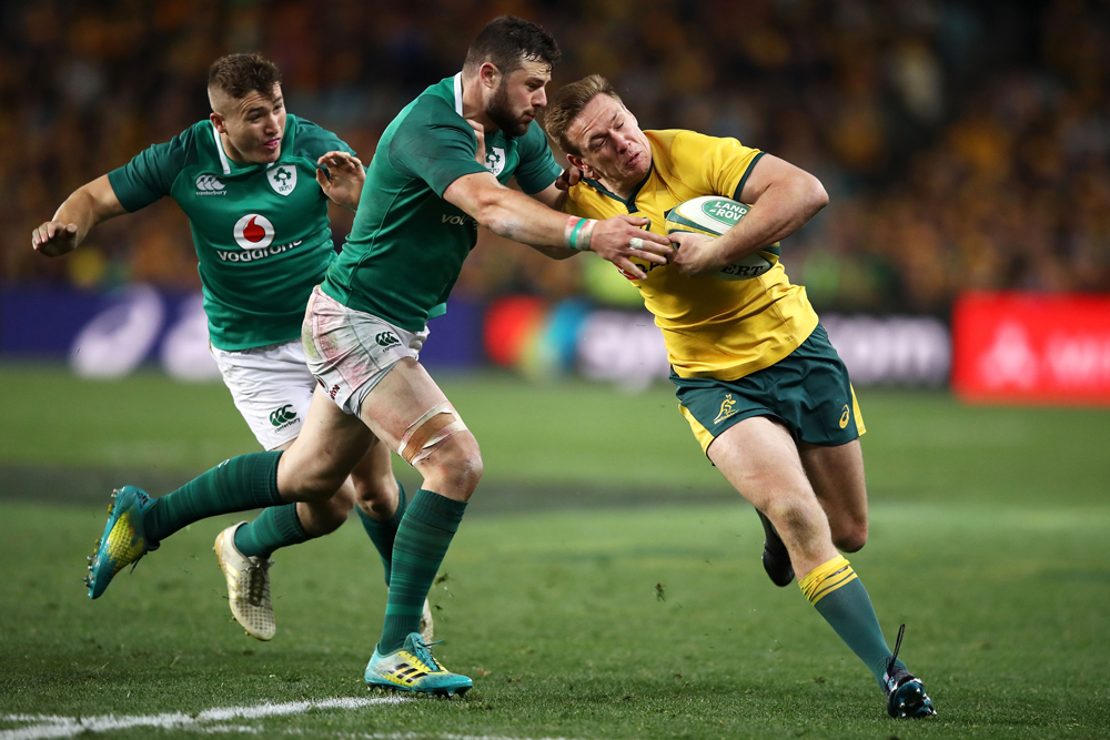 Dane Haylett-Petty in action against Ireland in 2018. Photo; Getty Images