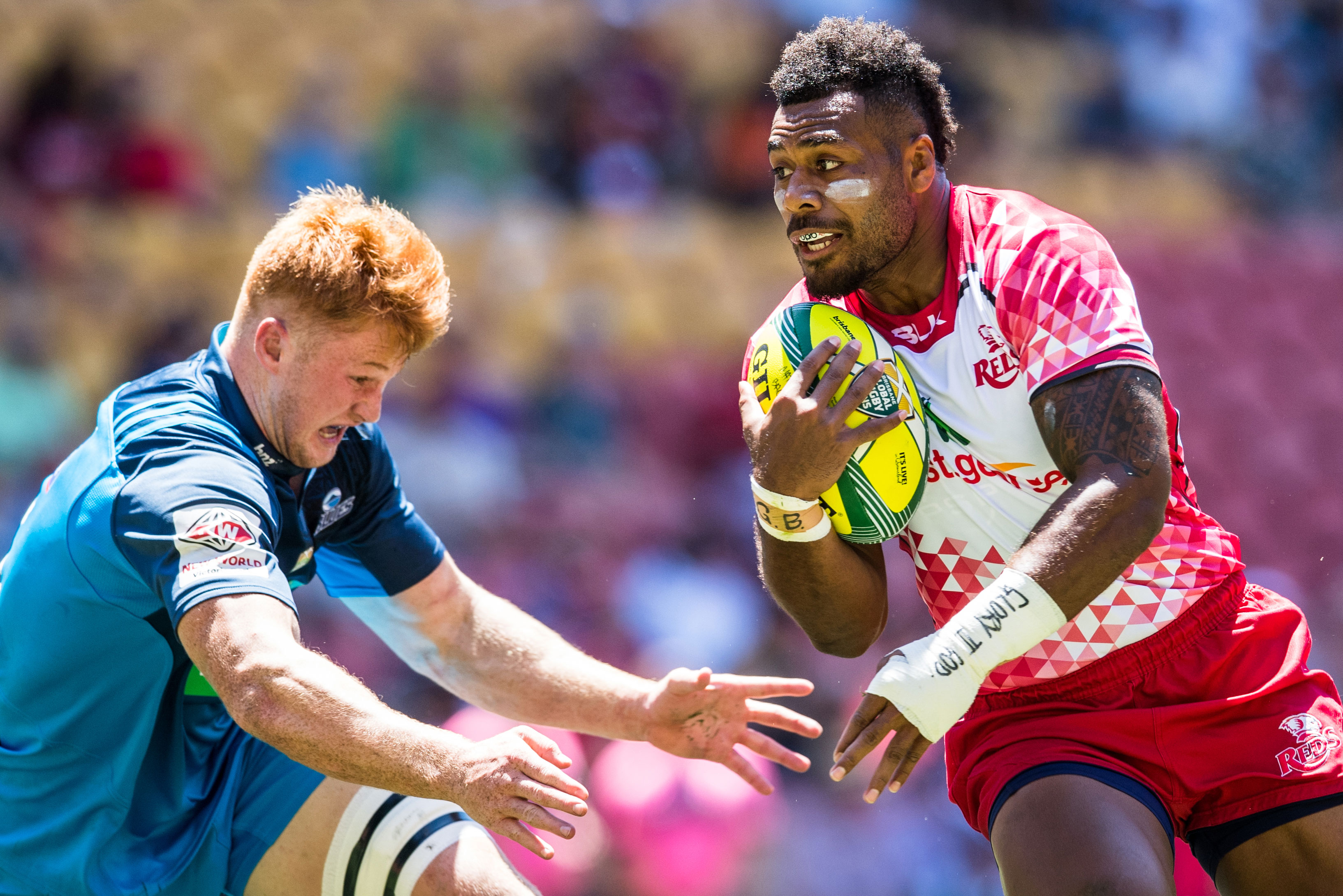 Samu Kerevi made his return from injury at the Tens. Photo: RUGBY.com.au/Stuart Walmsley
