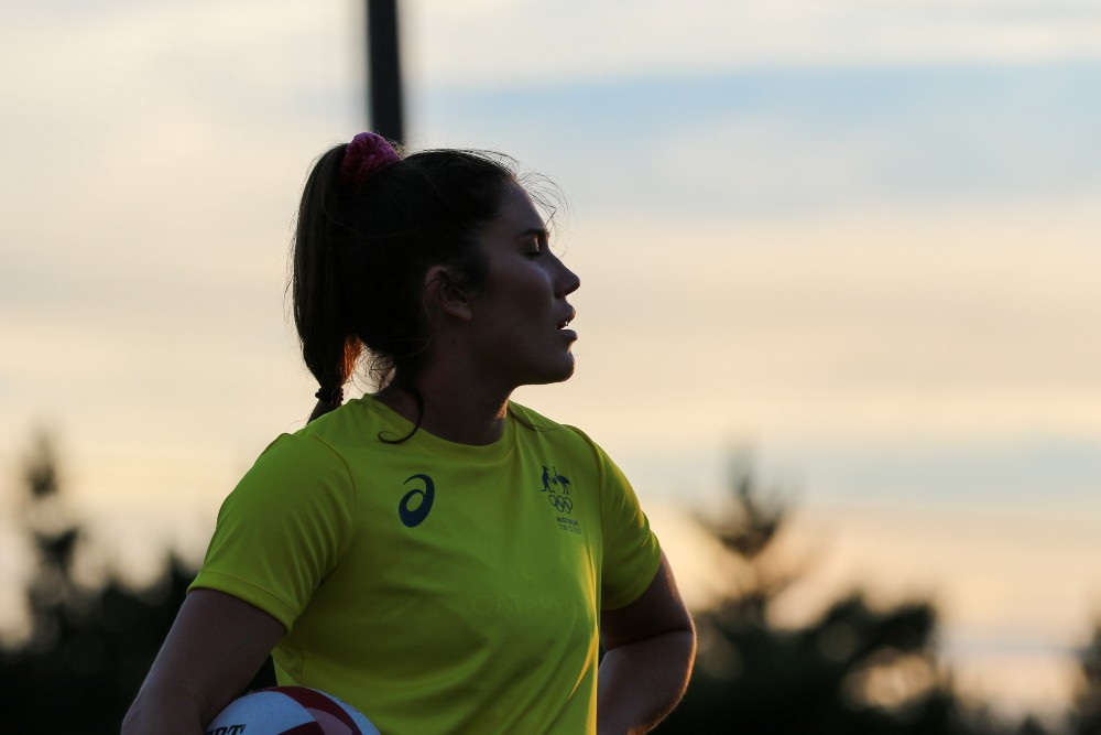 Charlotte Caslick has stepped up as a leader in a Sevens side hunting for back-to-back gold. Photo: Supplied