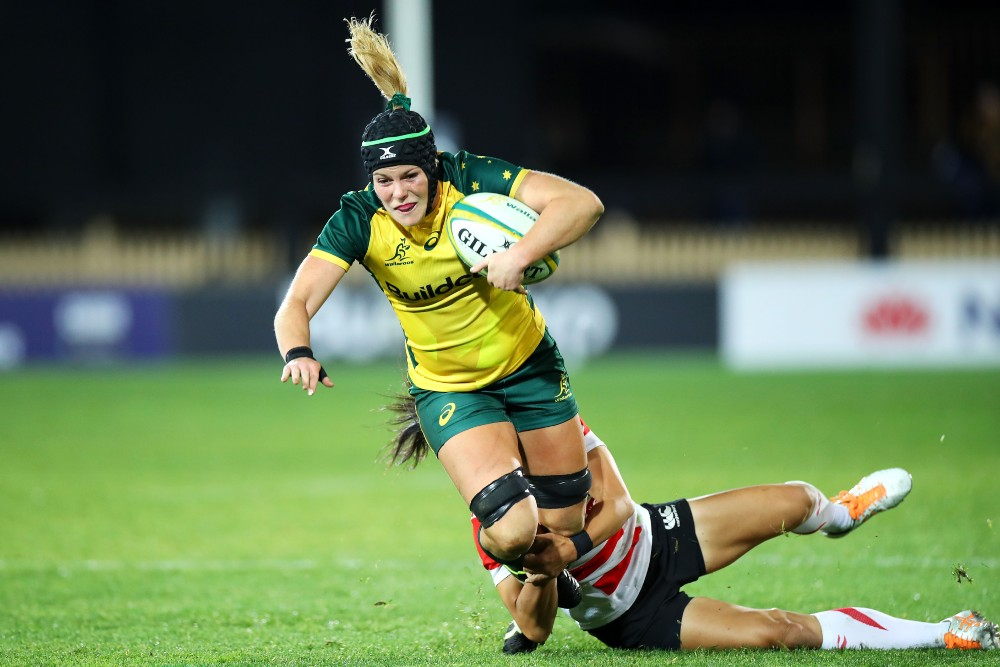 Emily Chancellor in action against Japan. Photo: Getty Images