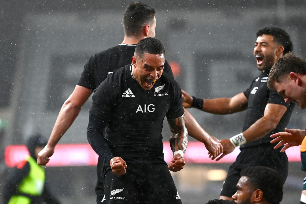 The All Blacks have claimed a dominant 57-22 win over the Wallabies. Photo: Getty Images