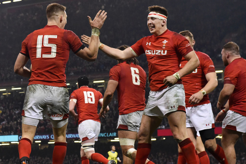 Wales winger Josh Adams has been suspended for a COVID Breach. Photo: Getty Images