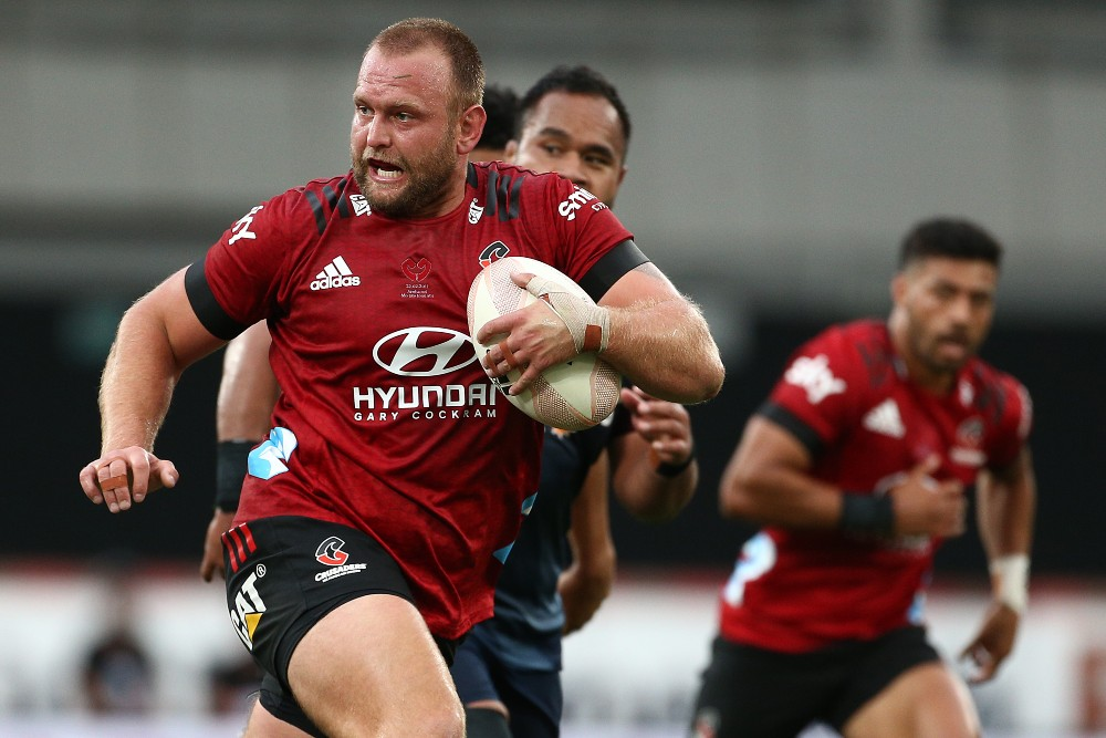 Joe Moody runs the ball for the Crusaders | Getty Images