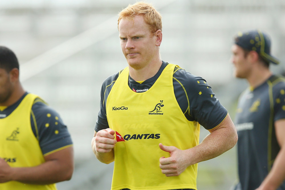 Peter Kmlin training with the Wallabies when he was based in Australia. Photo: Getty Images