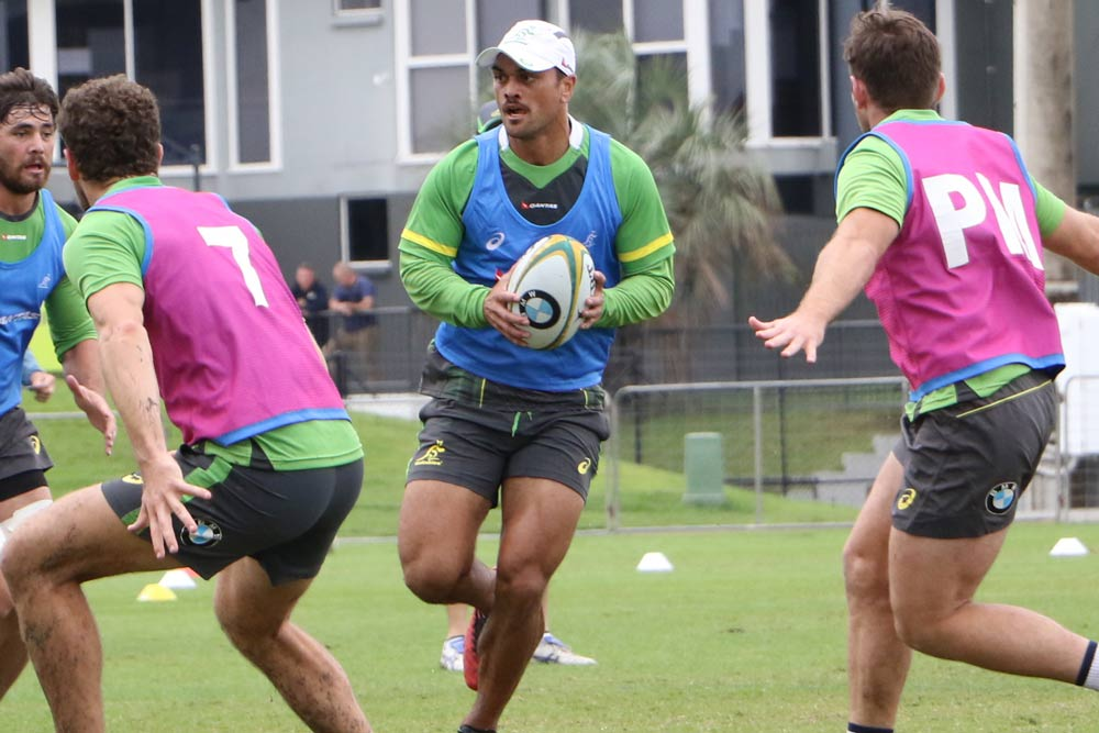 Karmichael Hunt is in the frame for the first Test after training on Friday. Photo: ARU Media