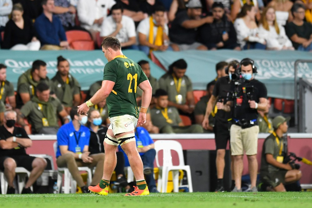 Jasper Wiese has been cleared for a dangerous cleanout yet will miss South Africa's clash with New Zealand. Photo: Getty Images
