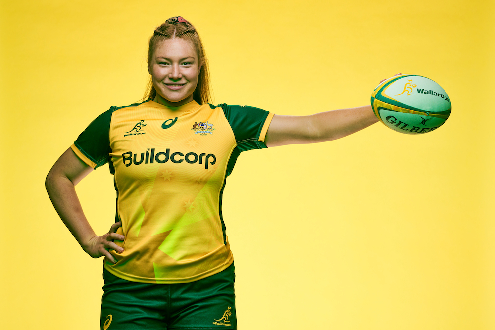 Wallaroos Grace Kemp is keen to see more First Nations girls pick up the game. Photo: Getty Images