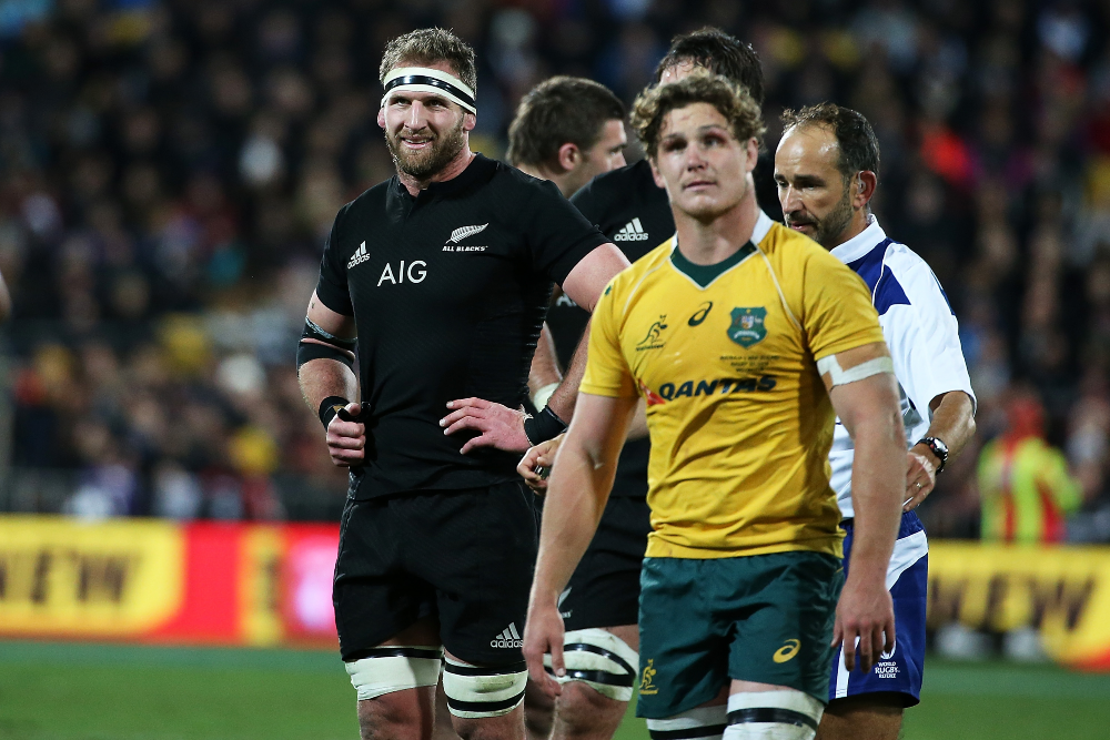 Unlikely friends, All Blacks and Wallabies skippers   Getty Images