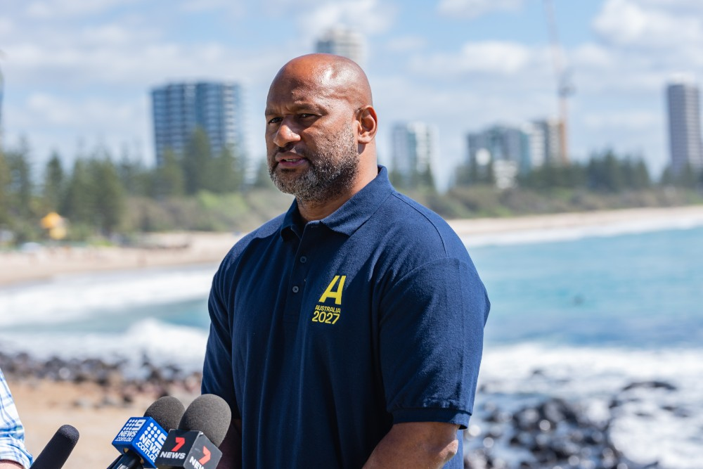 Lote Tuqiri believes the World Cup Bid will be a major boost for Rugby in the Pacific. Photo: Stephen Tremain