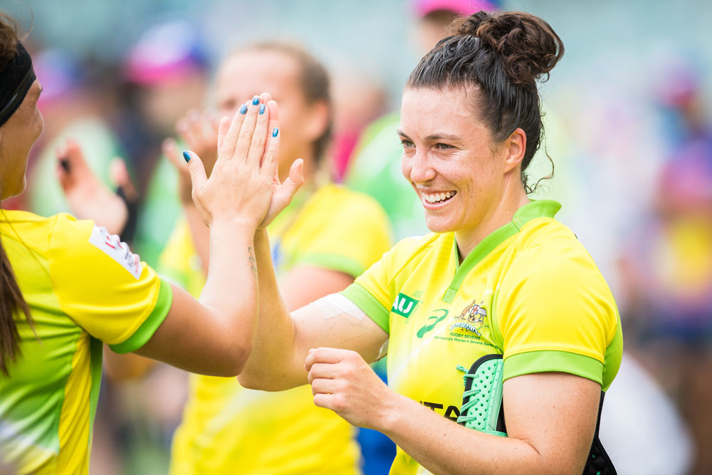 Emilee Cherry has committed through to the 2020 Olympics. Photo: RUGBY.com.au/Stuart Walmsley