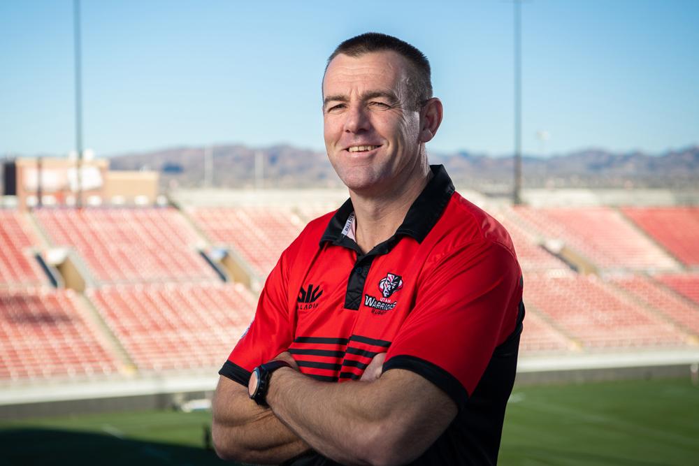 Utah Warriors head coach Chris Latham in Las Vegas. Photo: Stuart Walmsley