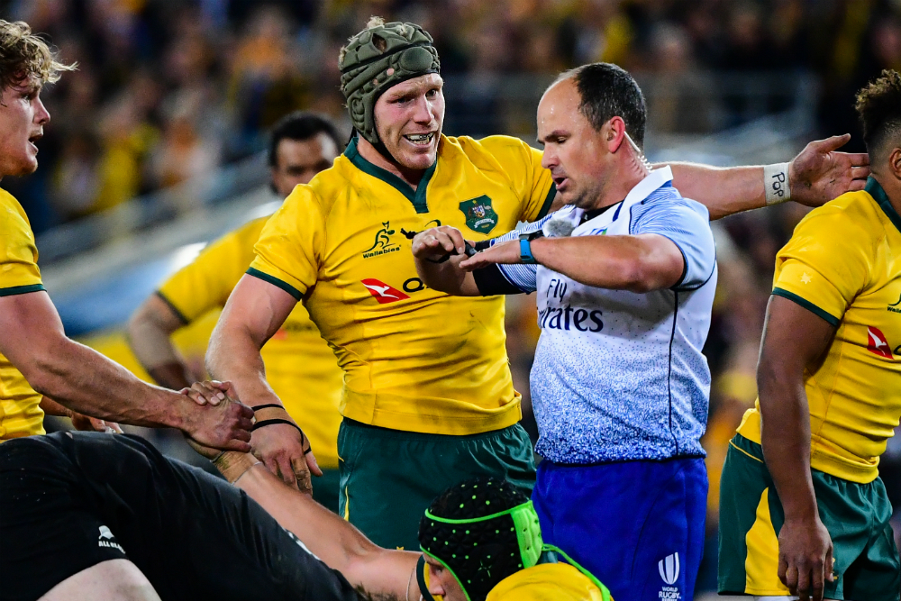Jaco Peyper did not view the Wallabies' scrum with kind eyes. Photo: RUGBY.com.au/Stuart Walmsley