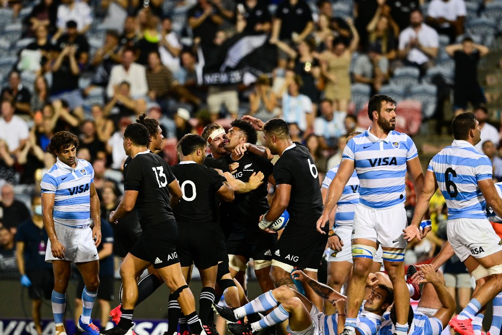 The All Blacks are hoping to snap a two-match losing streak in the Tri Nations against Los Pumas. Photo: Getty Images