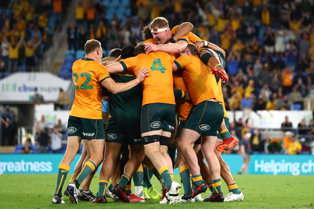 The Wallabies have pulled off a famous victory spearheaded by the returning Quade Cooper. Photo: Getty Images