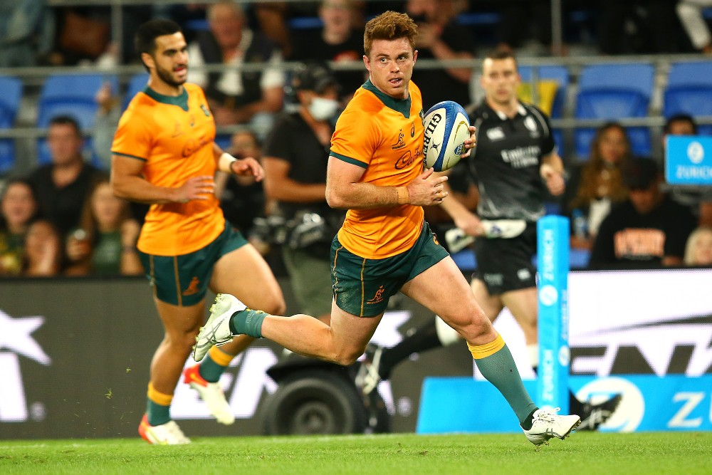 A hat-trick to Andrew Kellaway has helped the Wallabies to a 32-17 victory over Argentina. Photo: Getty Images