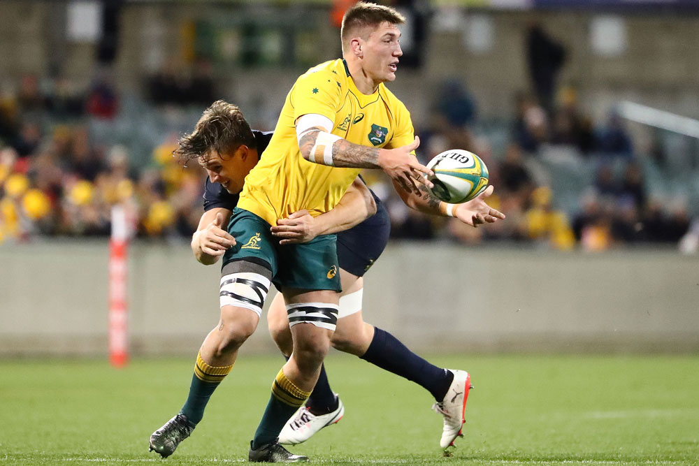 Sean McMahon in action for the Wallabies. Photo: Getty Images