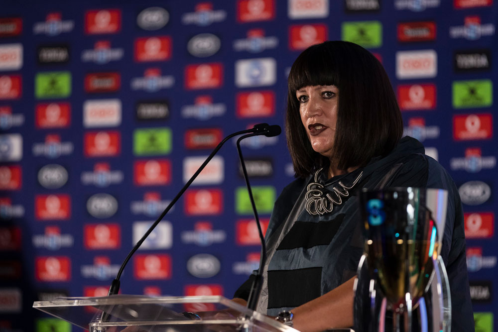 Raelene Castle at the Super Rugby and Super W launch. Photo: Getty Images