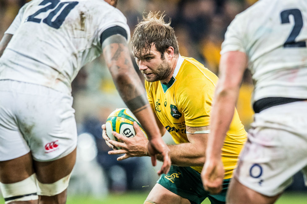 McCalman came off the bench in the Wallabies 7-23 loss to England on Saturday. Photo: ARU Media/Stu Walmsley