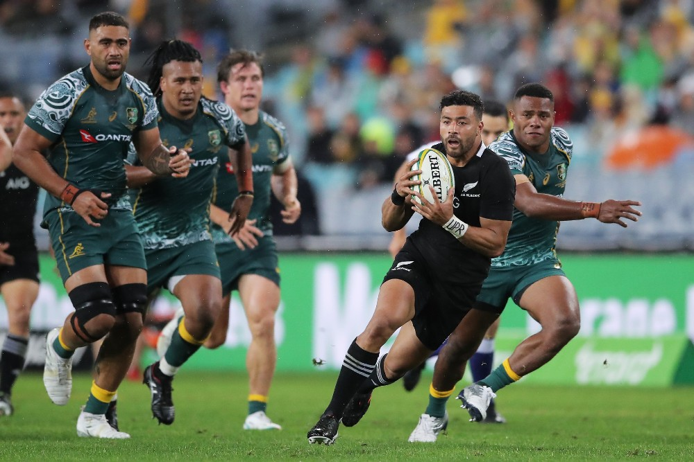 Richie Mo'unga shattered the Wallabies' hopes with his best performance in a black jersey. Photo: Getty Images