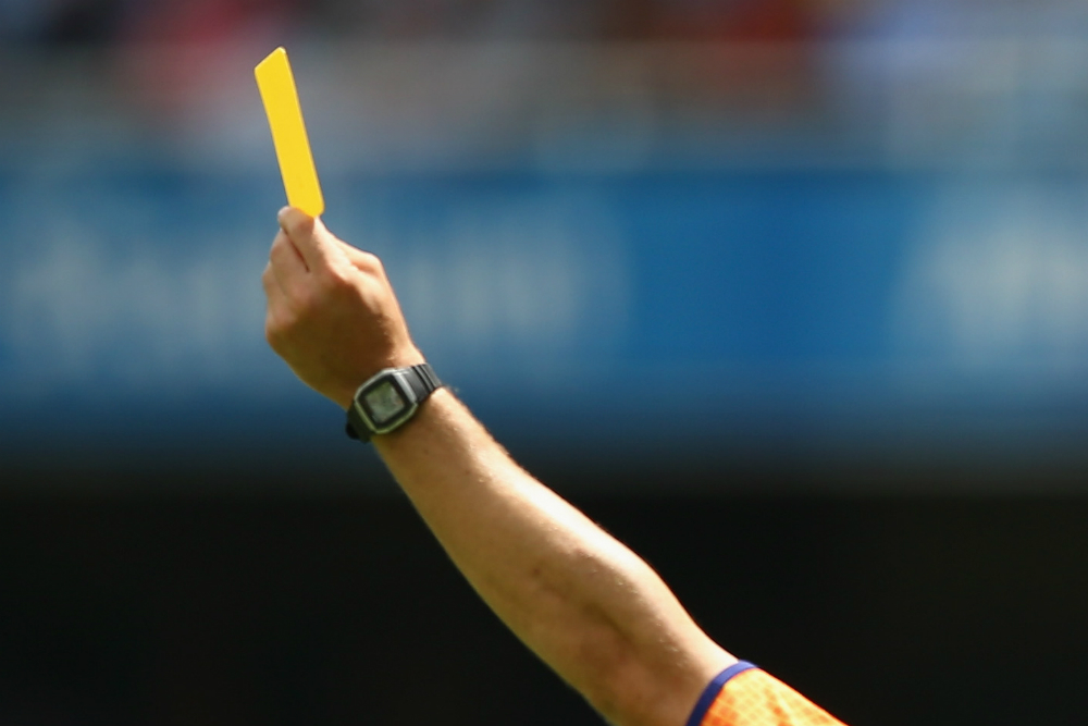 Yellow cards have been a common occurrence so far this season. Photo: Getty Images.